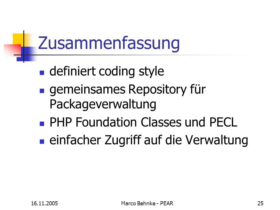 Zusammenfassung definiert coding style
