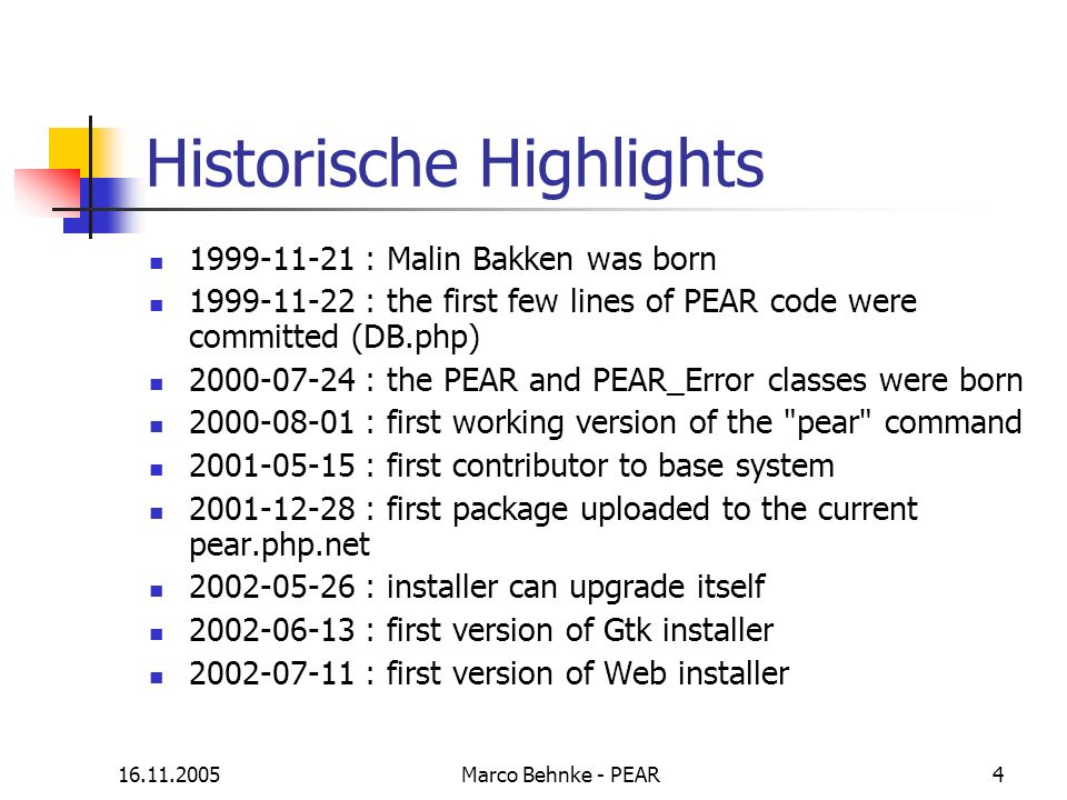 Historische Highlights