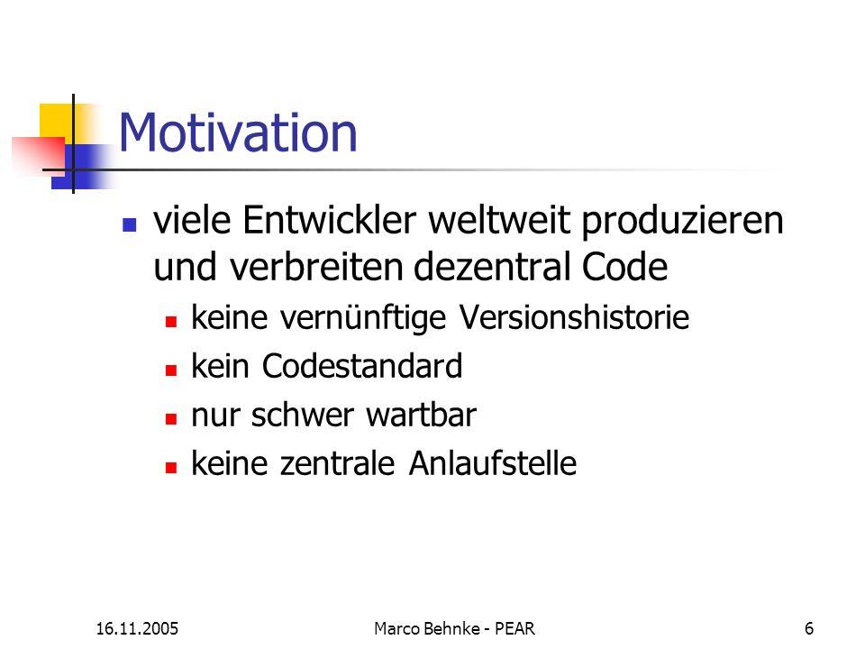Motivation viele Entwickler weltweit produzieren und verbreiten dezentral Code. keine vernünftige Versionshistorie.