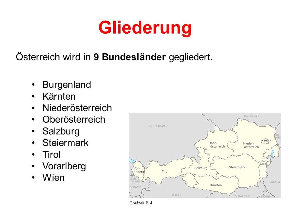Gliederung Österreich wird in 9 Bundesländer gegliedert. Burgenland