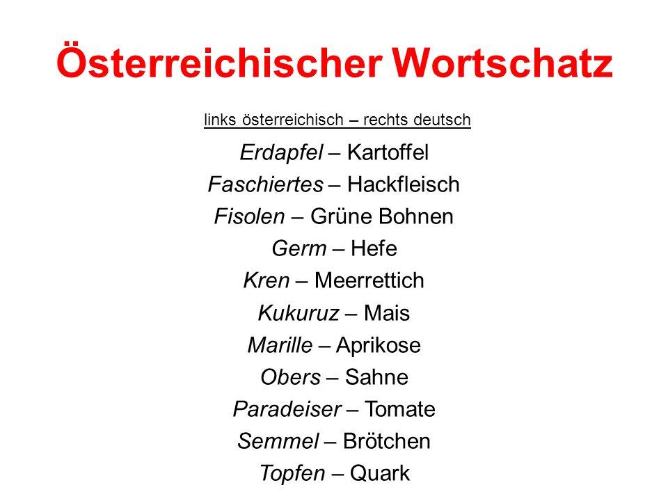 Österreichischer Wortschatz