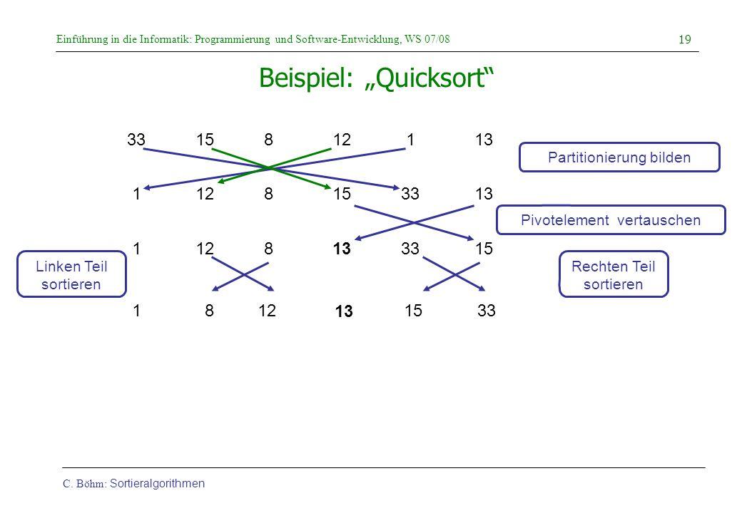 """Beispiel: """"Quicksort"""
