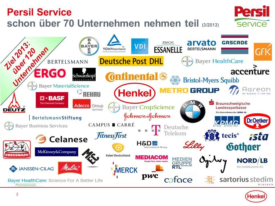 schon über 70 Unternehmen nehmen teil (3/2013)