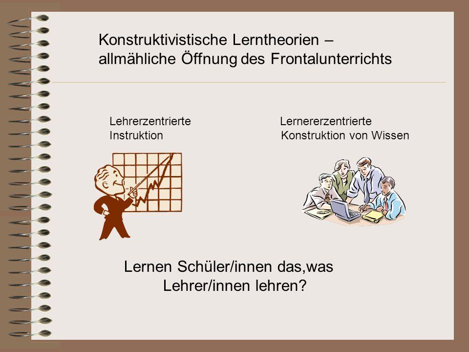 Konstruktivistische Lerntheorien –