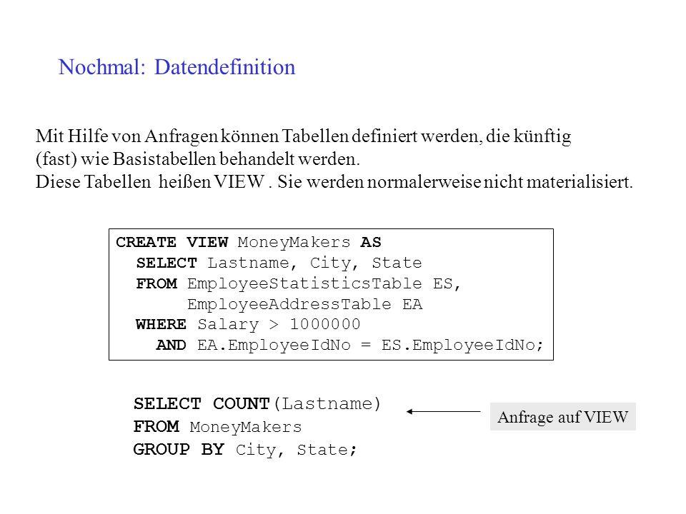 Nochmal: Datendefinition