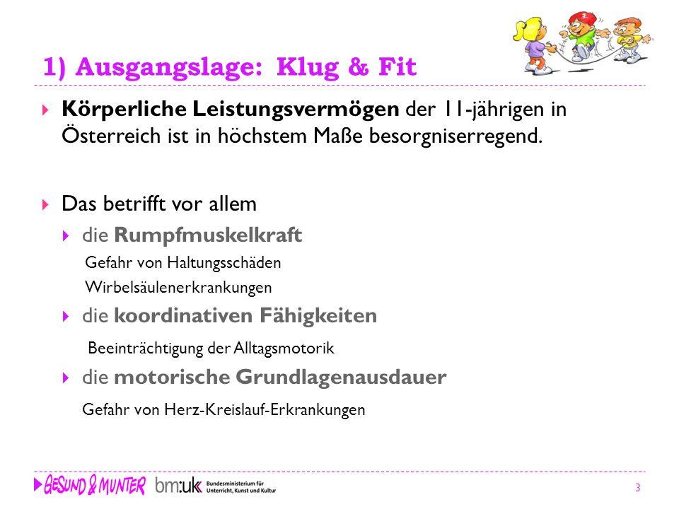 1) Ausgangslage: Klug & Fit