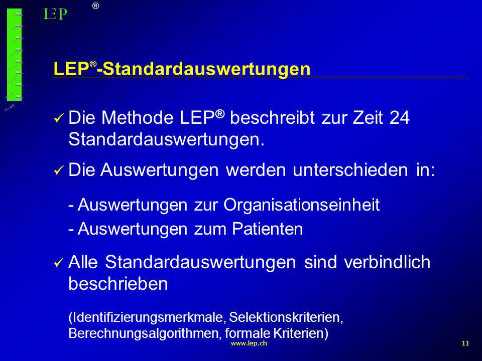 LEP®-Standardauswertungen