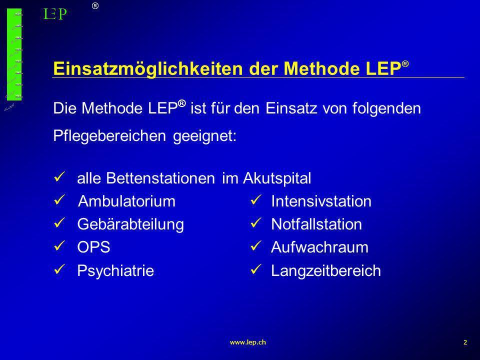 Einsatzmöglichkeiten der Methode LEP®