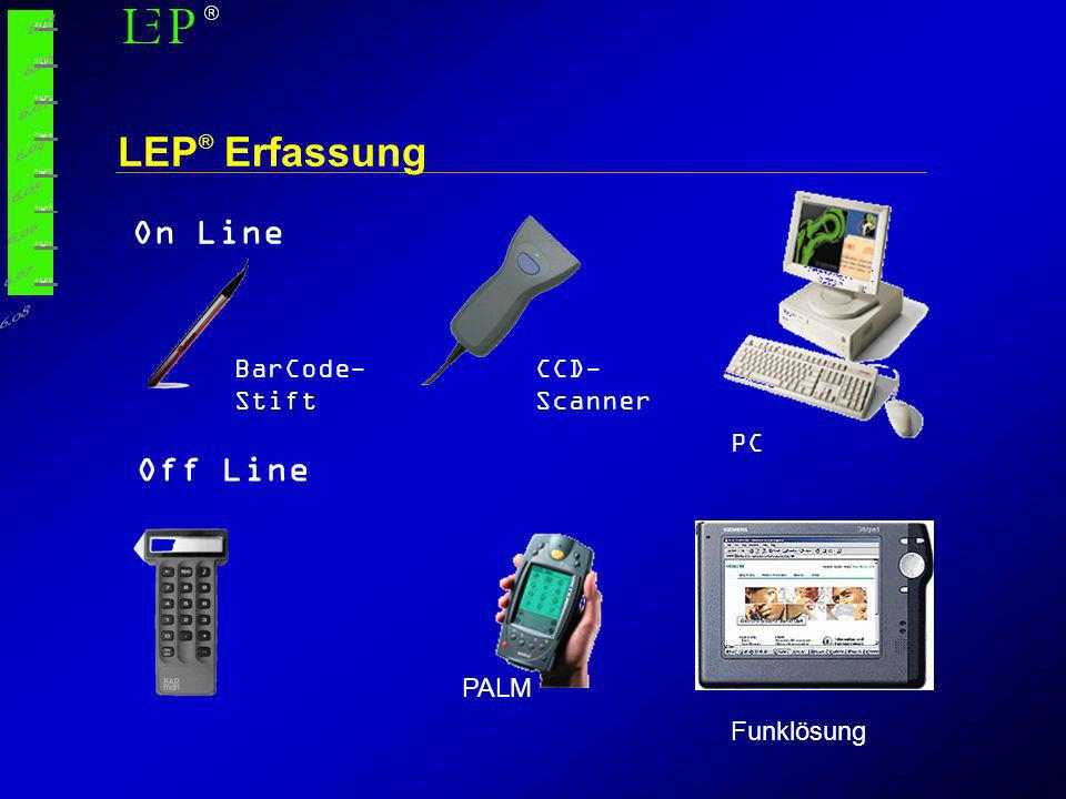 LEP® Erfassung On Line Off Line BarCode-Stift CCD-Scanner PC PALM