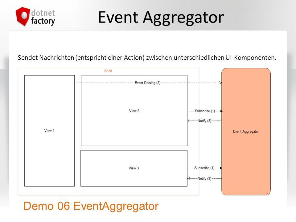 Event Aggregator Demo 06 EventAggregator