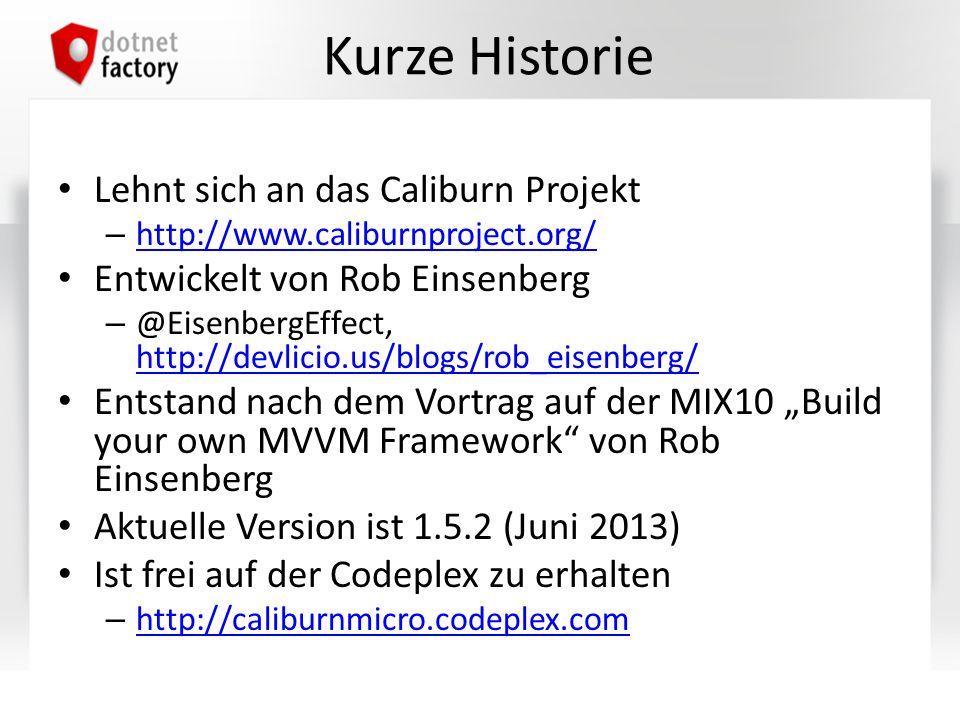 Kurze Historie Lehnt sich an das Caliburn Projekt
