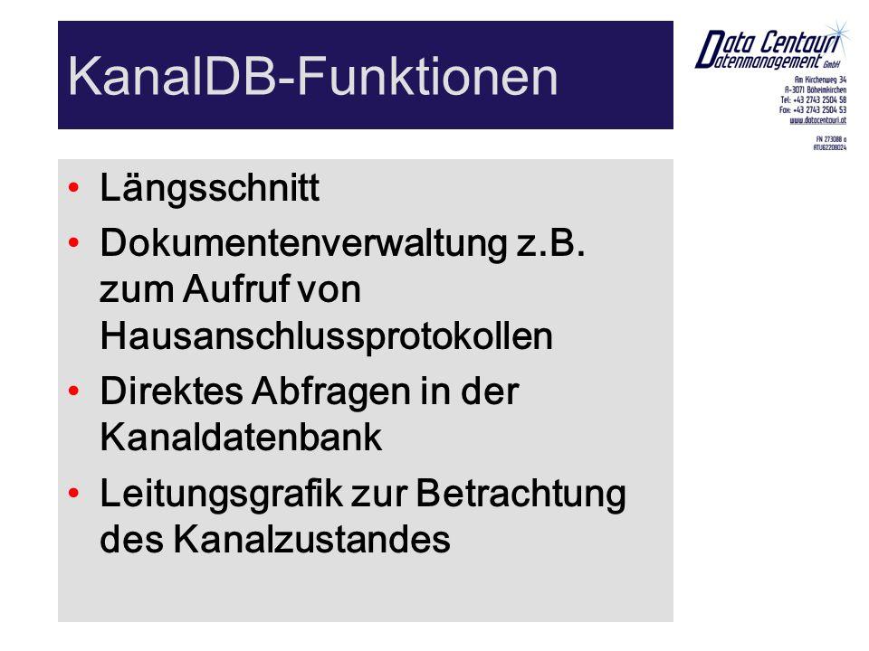 KanalDB-Funktionen Längsschnitt