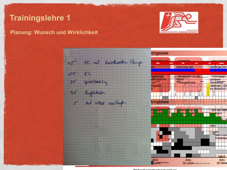 Trainingslehre 1 Planung: Wunsch und Wirklichkeit