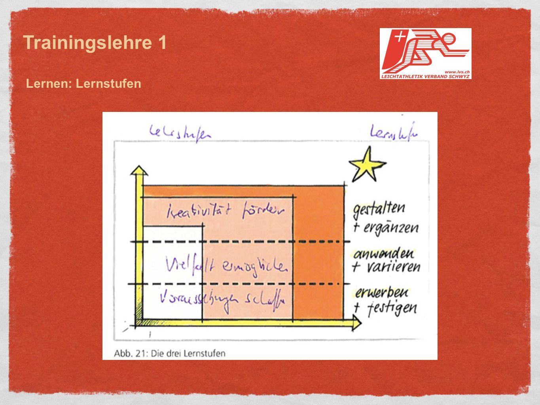 Trainingslehre 1 Lernen: Lernstufen