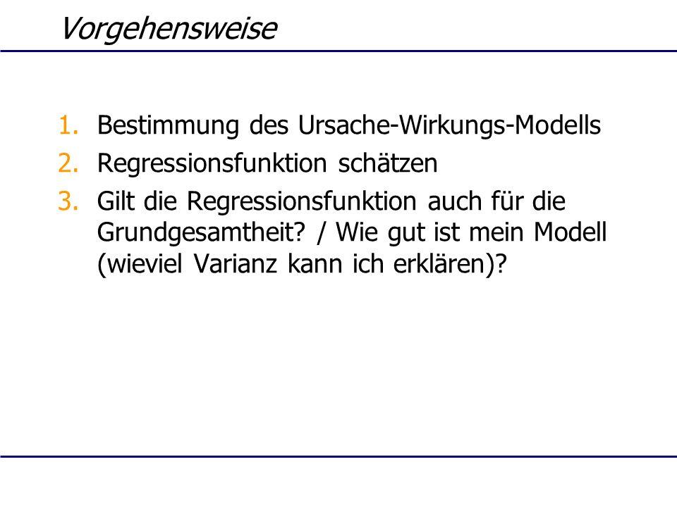 Vorgehensweise Bestimmung des Ursache-Wirkungs-Modells