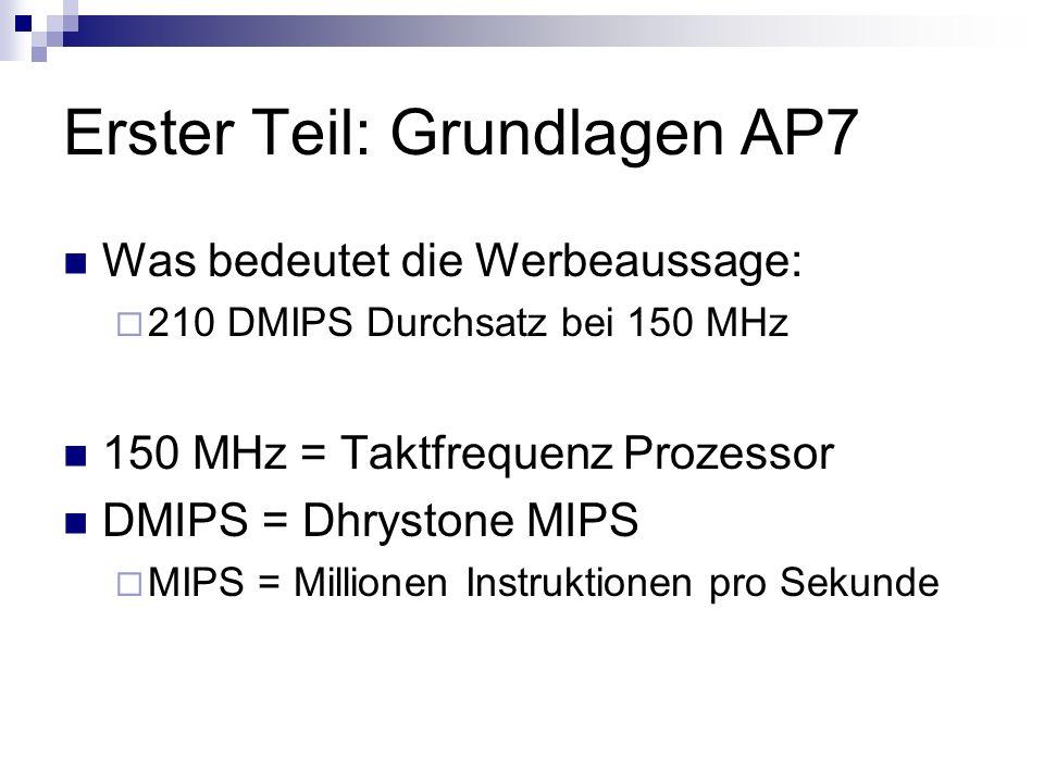 Erster Teil: Grundlagen AP7
