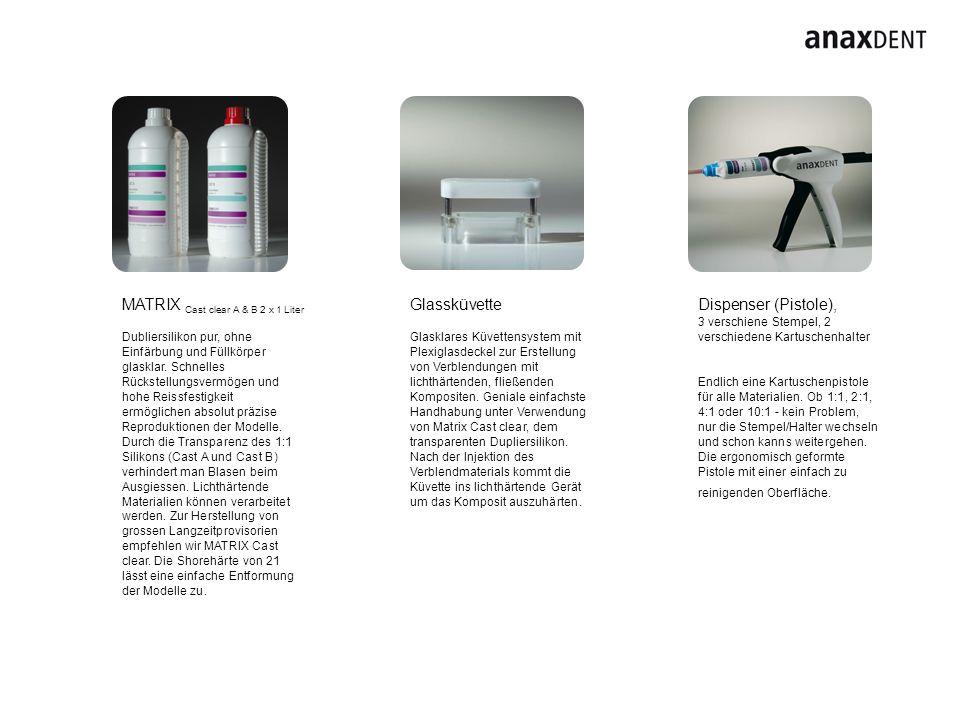 MATRIX Cast clear A & B 2 x 1 Liter Glassküvette Dispenser (Pistole),