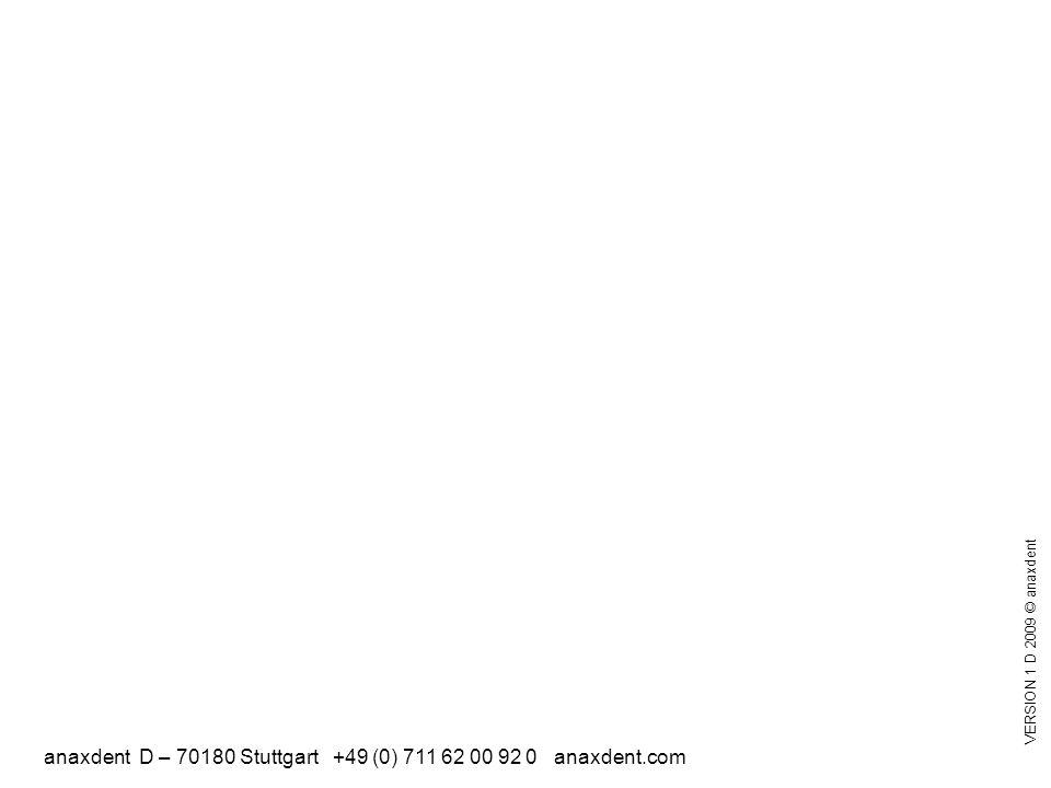 anaxdent D – 70180 Stuttgart +49 (0) 711 62 00 92 0 anaxdent.com