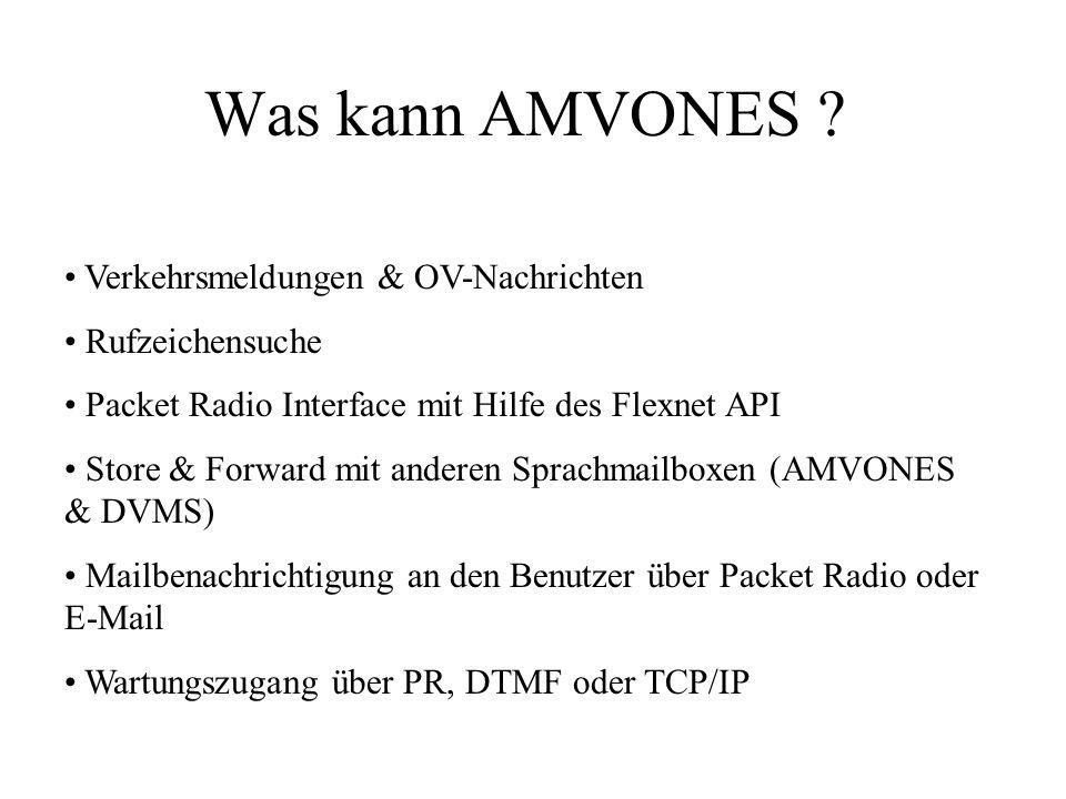 Was kann AMVONES Verkehrsmeldungen & OV-Nachrichten Rufzeichensuche