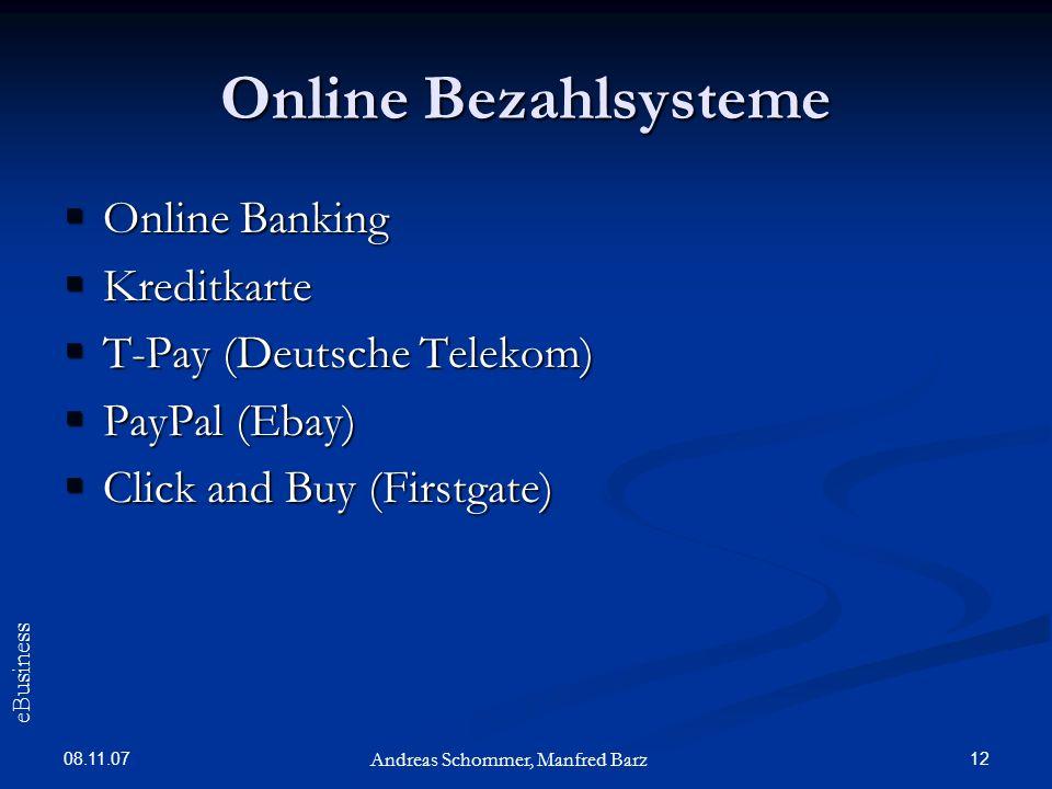 Online Bezahlsysteme Online Banking Kreditkarte