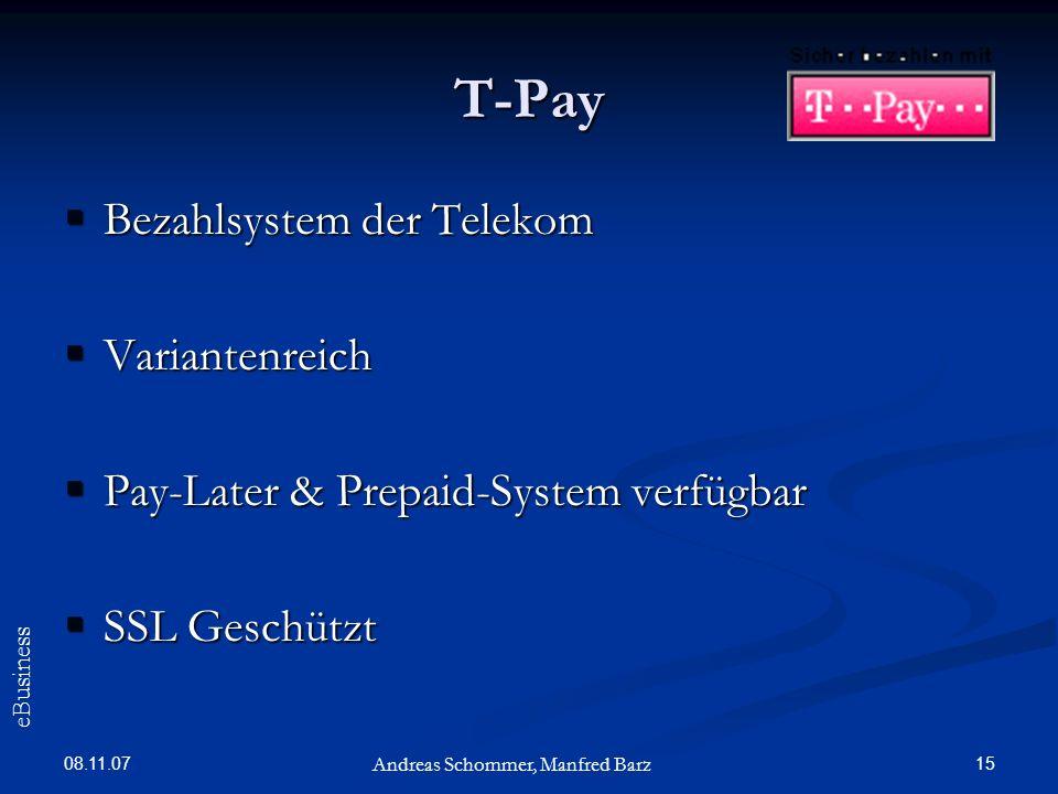 T-Pay Bezahlsystem der Telekom Variantenreich