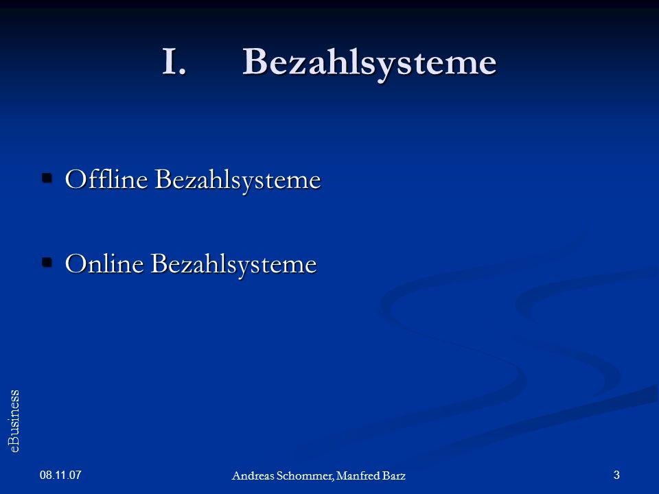 Bezahlsysteme Offline Bezahlsysteme Online Bezahlsysteme eBusiness