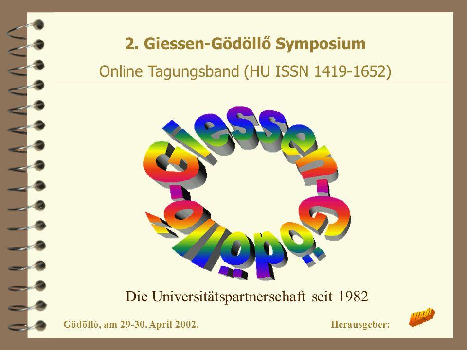 2. Giessen-Gödöllő Symposium