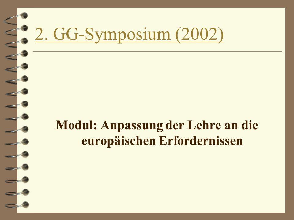 Modul: Anpassung der Lehre an die europäischen Erfordernissen