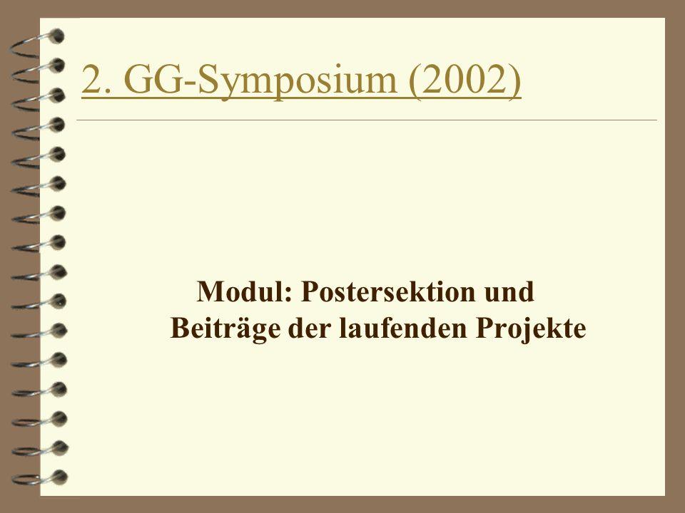 Modul: Postersektion und Beiträge der laufenden Projekte