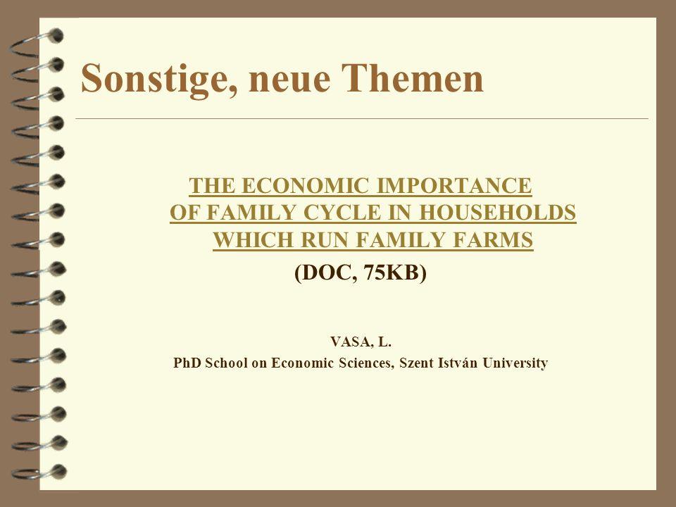 PhD School on Economic Sciences, Szent István University