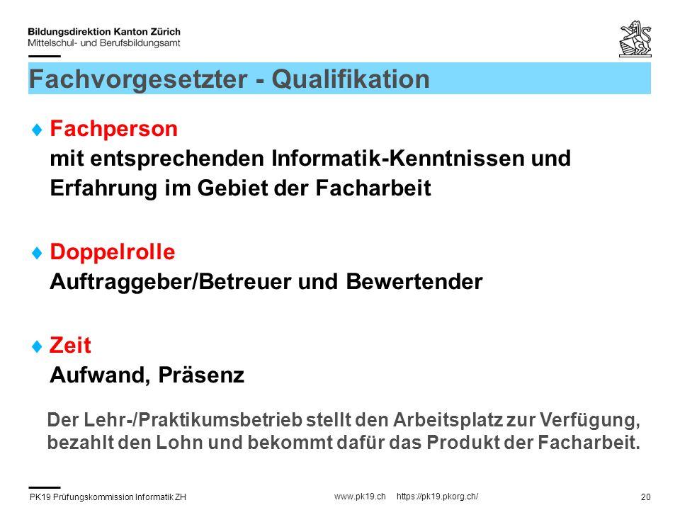 Fachvorgesetzter - Qualifikation