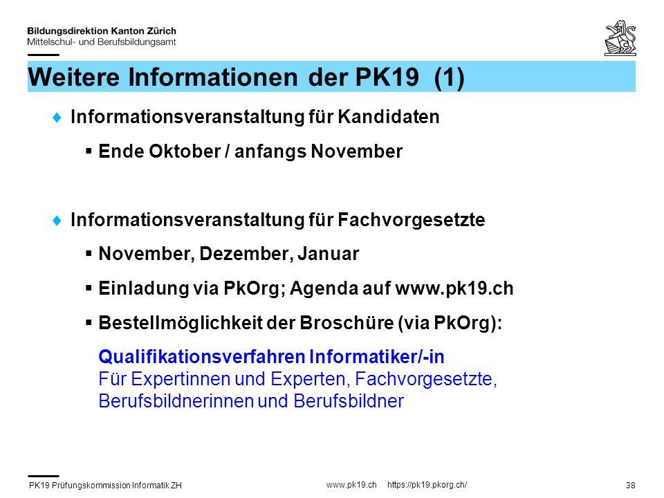 Weitere Informationen der PK19 (1)