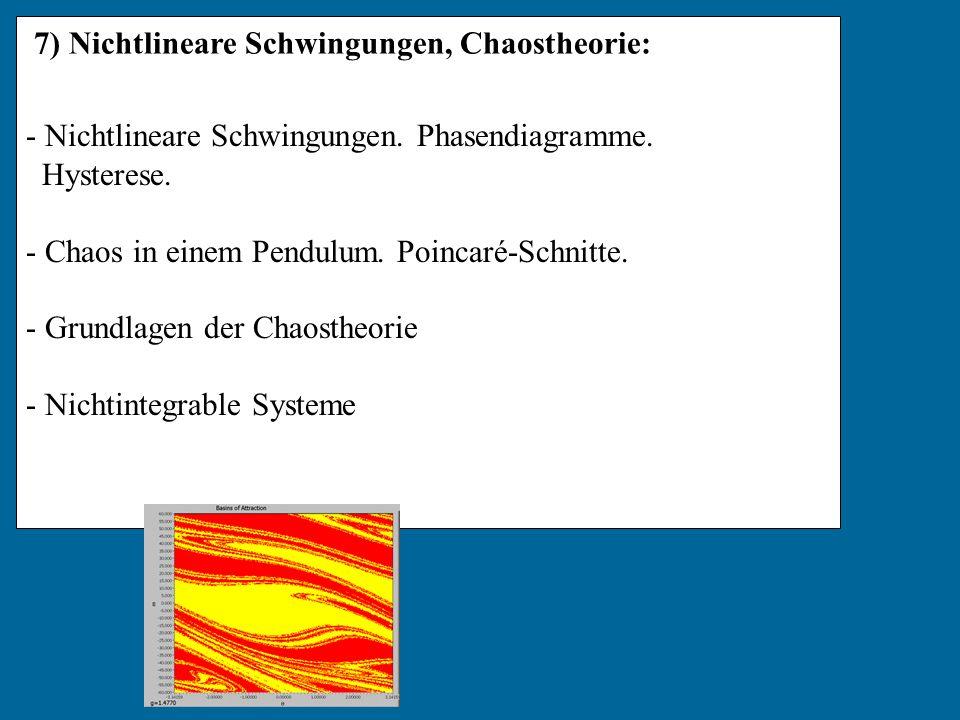 7) Nichtlineare Schwingungen, Chaostheorie: