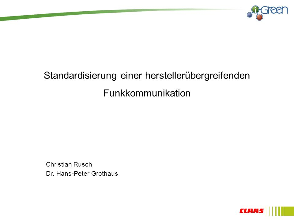 Standardisierung einer herstellerübergreifenden Funkkommunikation