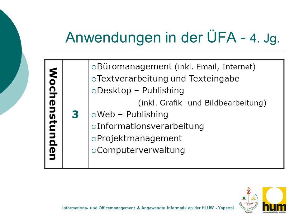 Anwendungen in der ÜFA - 4. Jg.