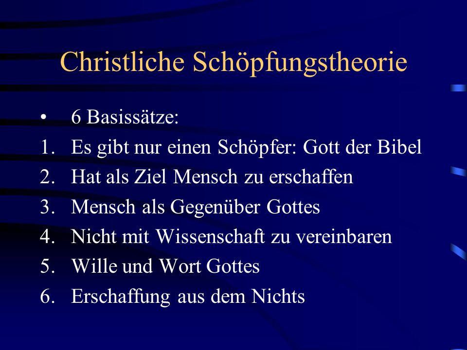 Christliche Schöpfungstheorie