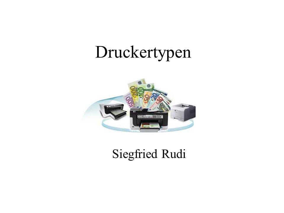 Druckertypen Siegfried Rudi
