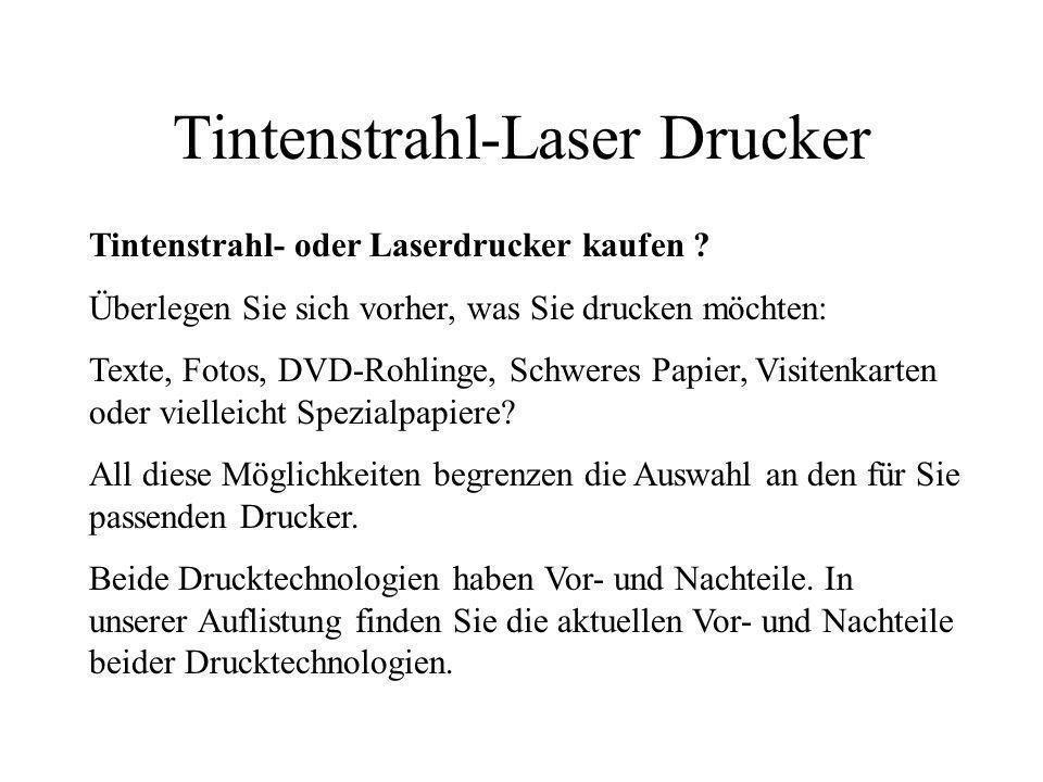 Tintenstrahl-Laser Drucker