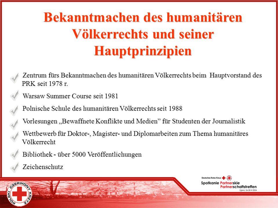 Bekanntmachen des humanitären Völkerrechts und seiner Hauptprinzipien