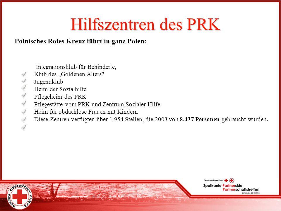 Hilfszentren des PRK Polnisches Rotes Kreuz führt in ganz Polen: