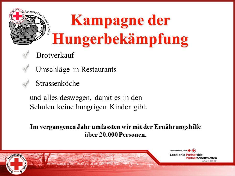 Kampagne der Hungerbekämpfung