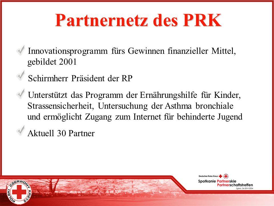 Partnernetz des PRK Innovationsprogramm fürs Gewinnen finanzieller Mittel, gebildet 2001. Schirmherr Präsident der RP.