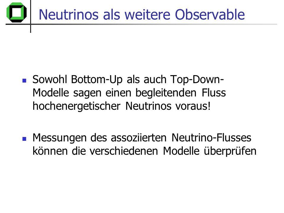 Neutrinos als weitere Observable