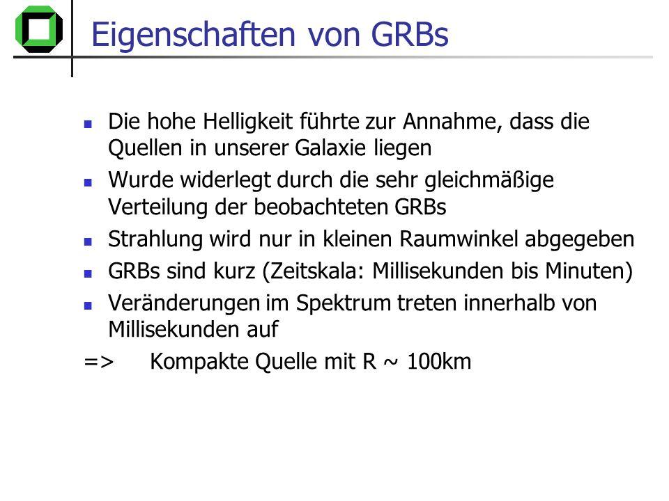 Eigenschaften von GRBs