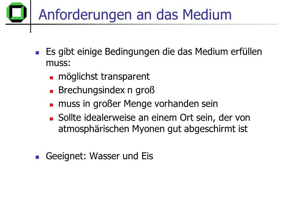 Anforderungen an das Medium
