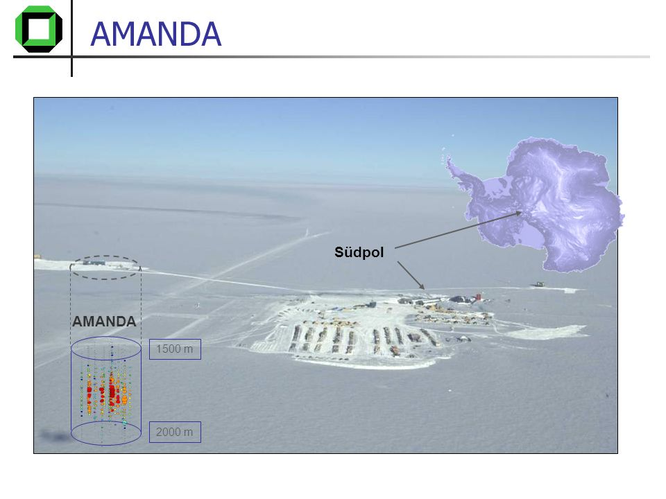 AMANDA Südpol AMANDA 1500 m 2000 m