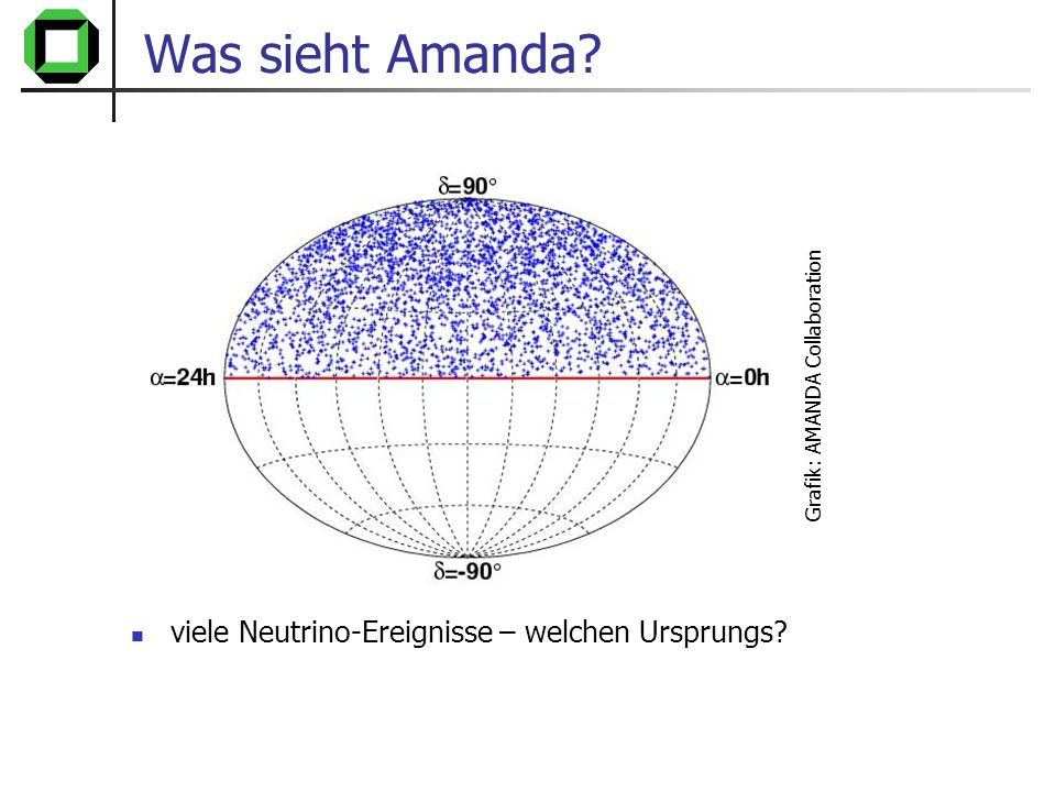 Was sieht Amanda viele Neutrino-Ereignisse – welchen Ursprungs