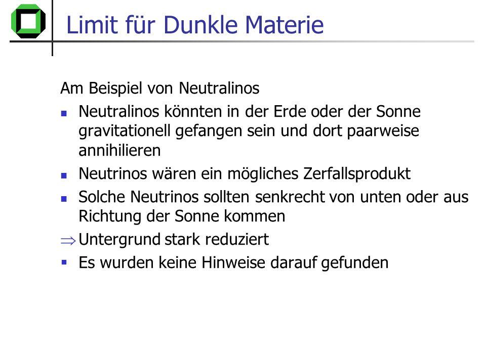 Limit für Dunkle Materie