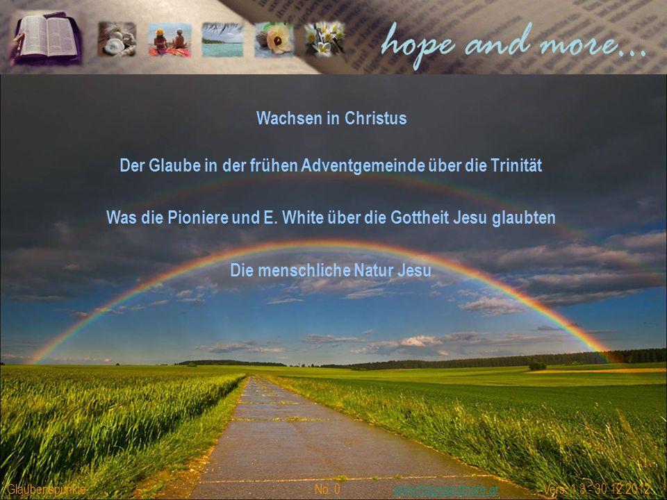 """Gedanken zur Lektion 4/2012 mit dem Thema """"Wachsen in Christus"""