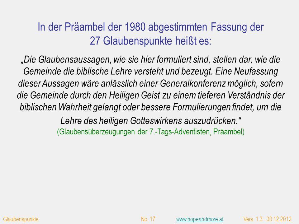 Die Tauffragen Nr. 2 + 3 aus dem Taufbekenntnis von 1874 der Pioniere zur Zeit von Ellen White